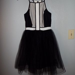 Black and White Tulle BCBG Dress
